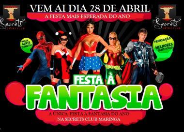 FESTA A FANTASIA NA SECRETSCLUB MARINGA PARANA